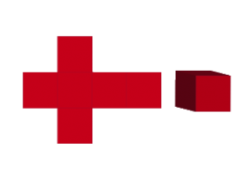 立方体と展開図
