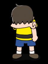 悔し涙を流す男の子