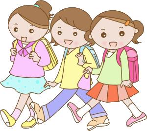 お喋りしながら歩く女の子たち